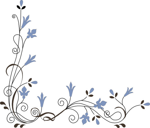 Floral clipart corner border Art Corner at clip as: