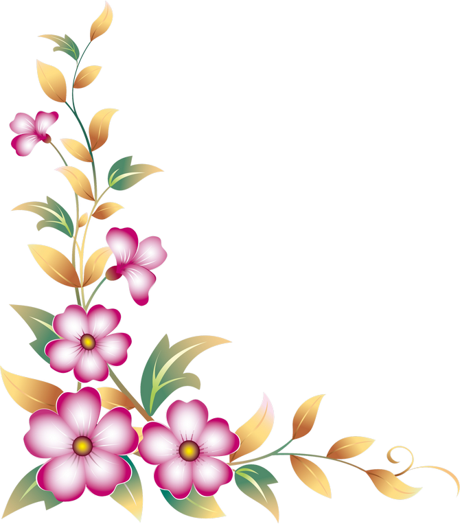 Floral clipart corner border автор on Flourish  Фото