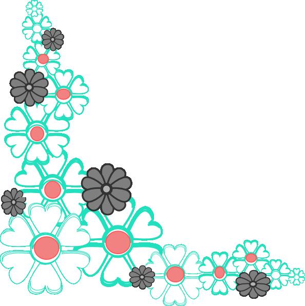 Floral clipart corner border  Cliparts Clip Art Flower