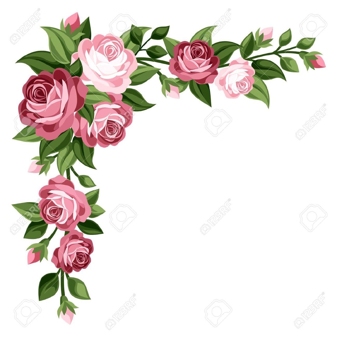 Purple Rose clipart floral Border Border · clipart Tags