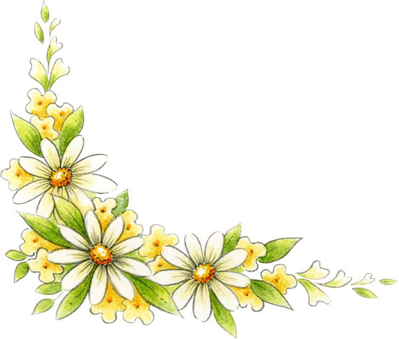 Wildflower clipart yellow flower Flower Corner Boarders Yellow Border