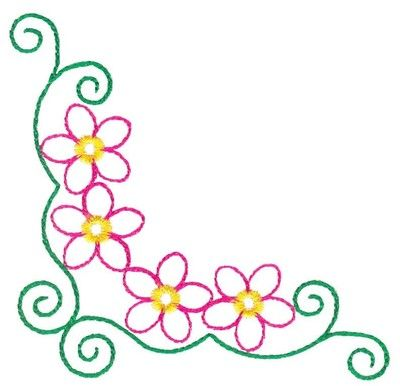 Simple clipart floral design #3
