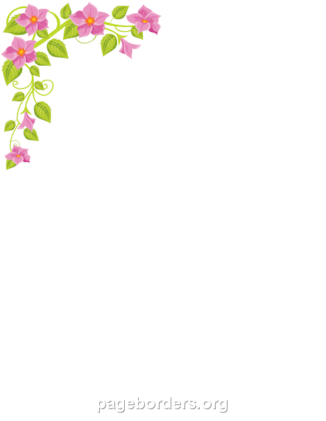 Word clipart flower  corner on Page Borders