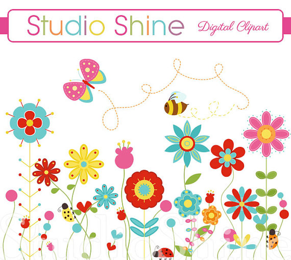 Lady Beetle clipart cute butterfly Flower Flower Happiness Cute Happiness