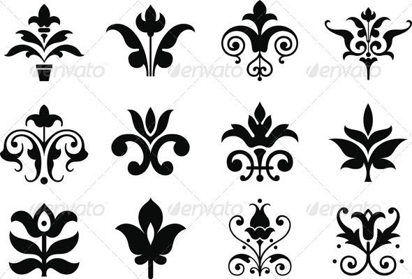 Floral clipart decorative symbol Flower Decorative Symbols by GraphicRiver