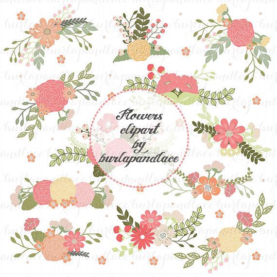 Illustration clipart wedding flower Art  flower Clip Art