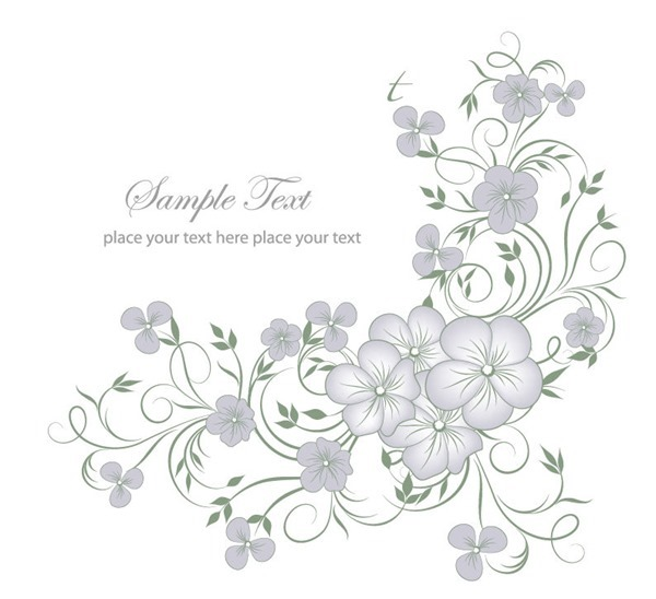 Floral clipart elegant flower Continue reading Background Graphic Vector'