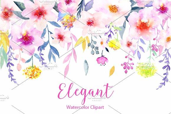 Floral clipart elegant flower Elegant Elegant ~ Illustrations Market