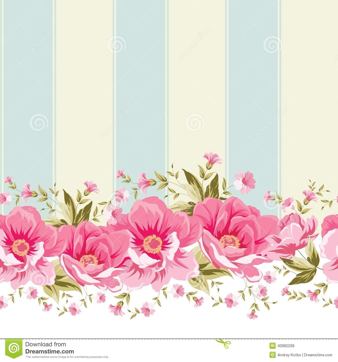Floral clipart elegant flower Ornate border tile flower Elegant