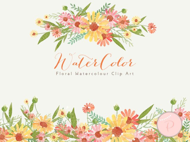 Floral clipart elegant flower Watercolor Elegant Watercolor Floral