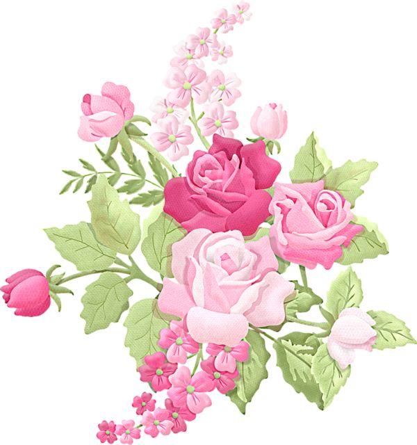 Floral clipart elegant flower Flowers FLEURS on Pinterest 239