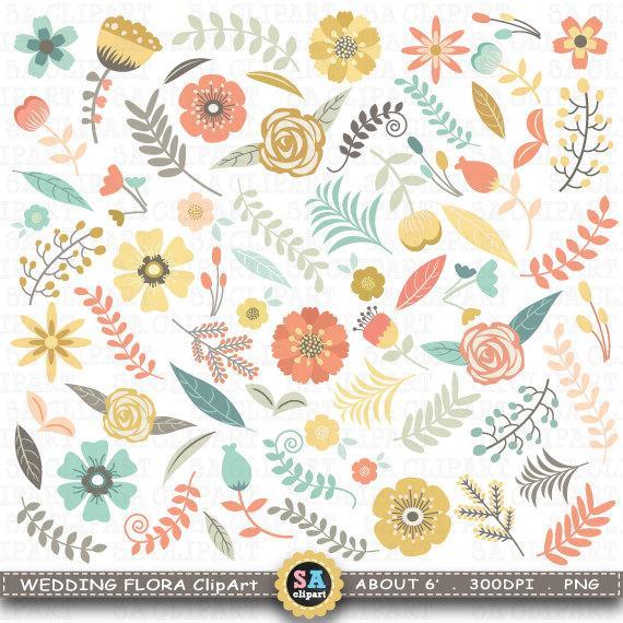 Floral clipart flora Invitation