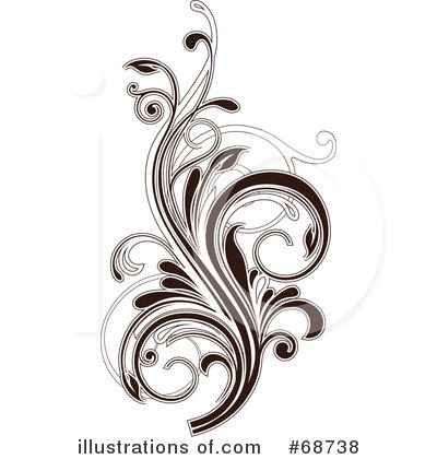 Floral clipart floral scroll #68738 OnFocusMedia Scroll #68738 Clipart