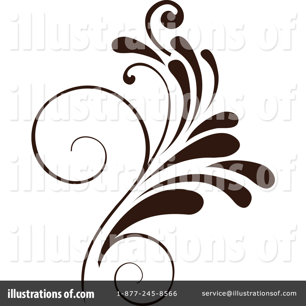 Floral clipart floral scroll #68735 OnFocusMedia Scroll #68735 Clipart