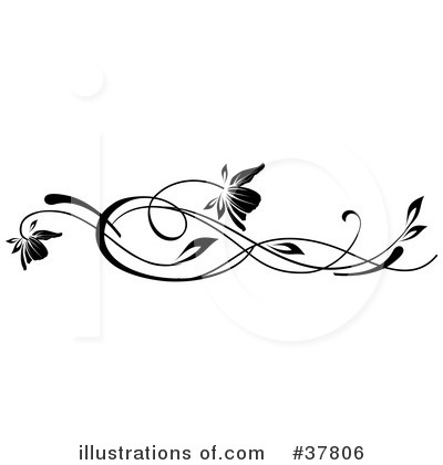 Floral clipart floral scroll Floral scroll and Free use
