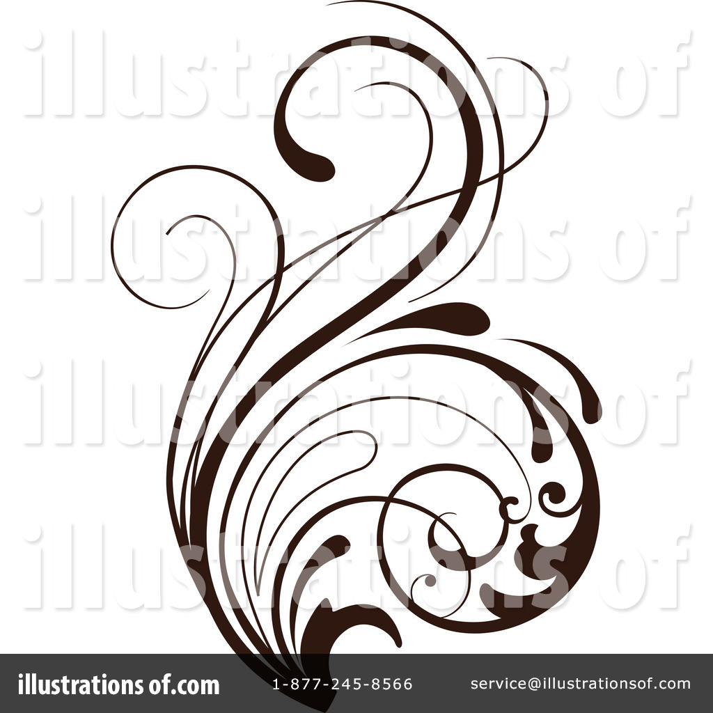 Floral clipart floral scroll #68737 OnFocusMedia Scroll #68737 Clipart