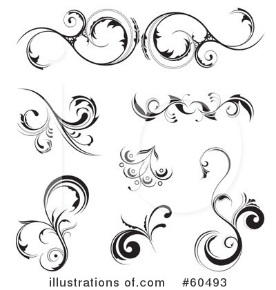 Floral clipart floral scroll Clipart Royalty Images Illustration TA