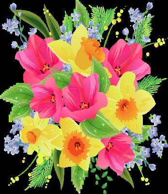 Yellow Flower clipart flower bunch Clip art Flower bouquet bouquet