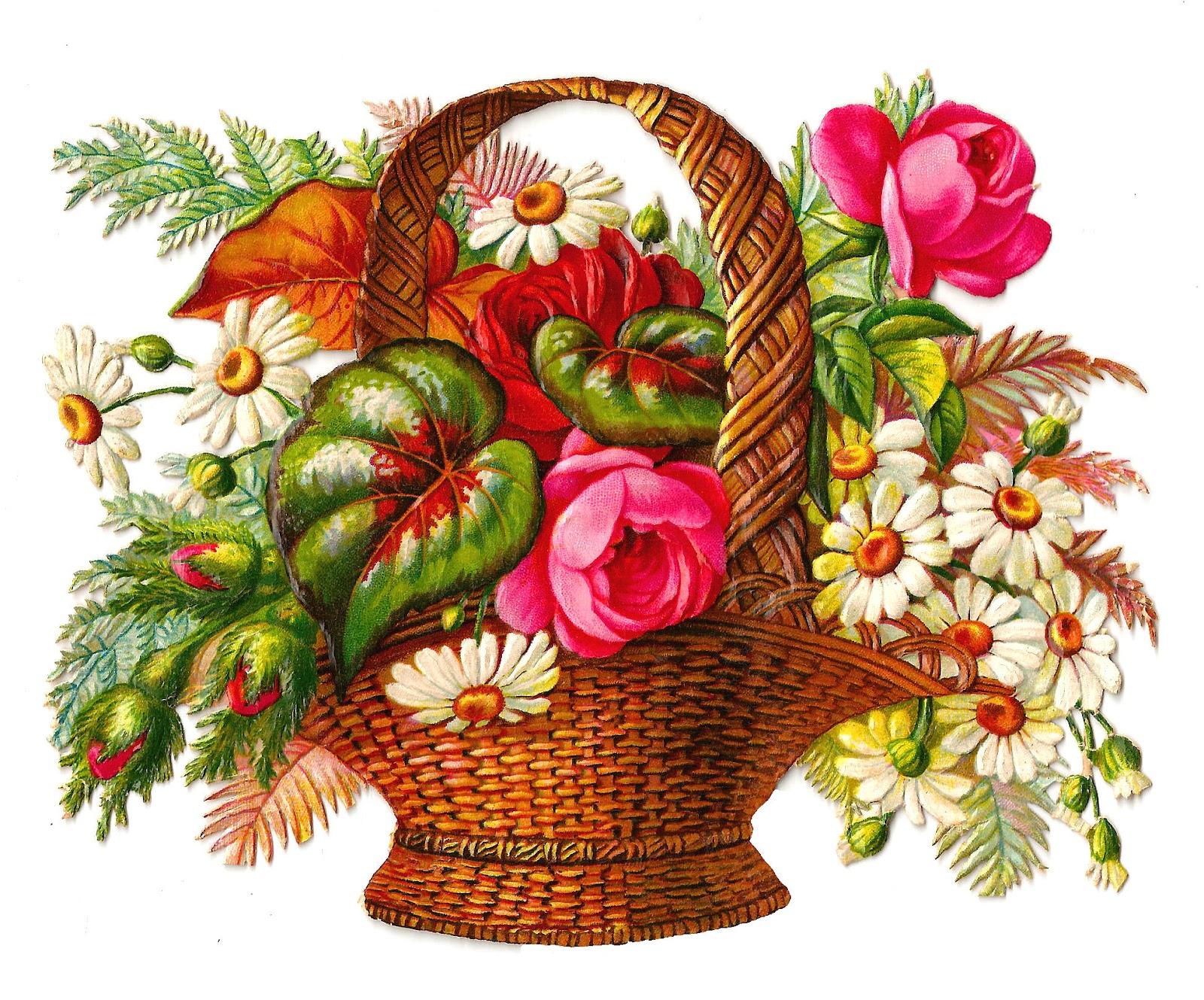 Vintage Flower clipart flower bunch Art: Bouquets of Clip Die