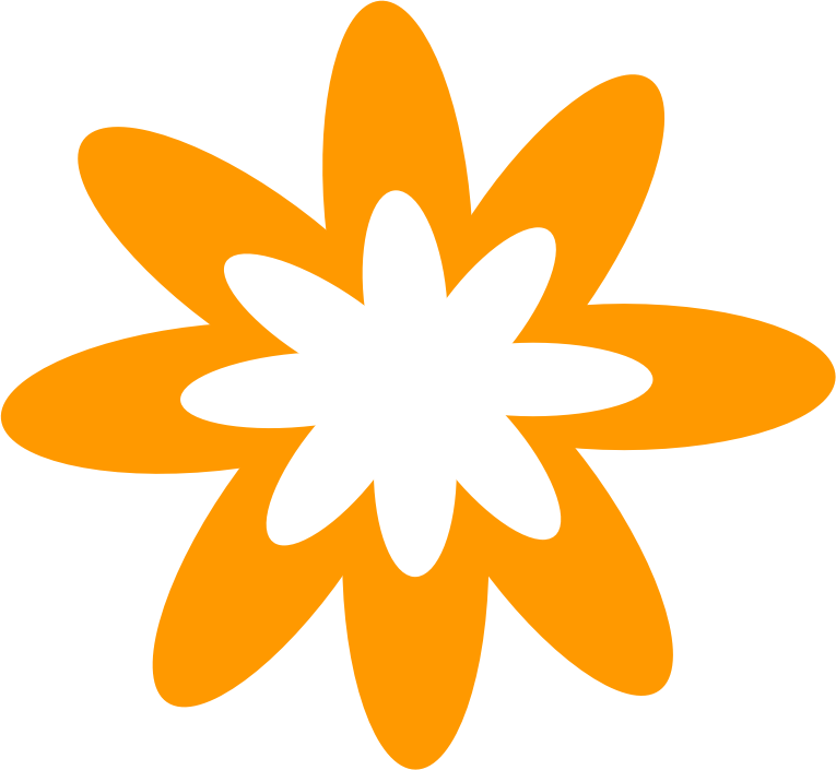 Floral clipart flower burst Flower IMAGE MEDIUM (PNG) Orange