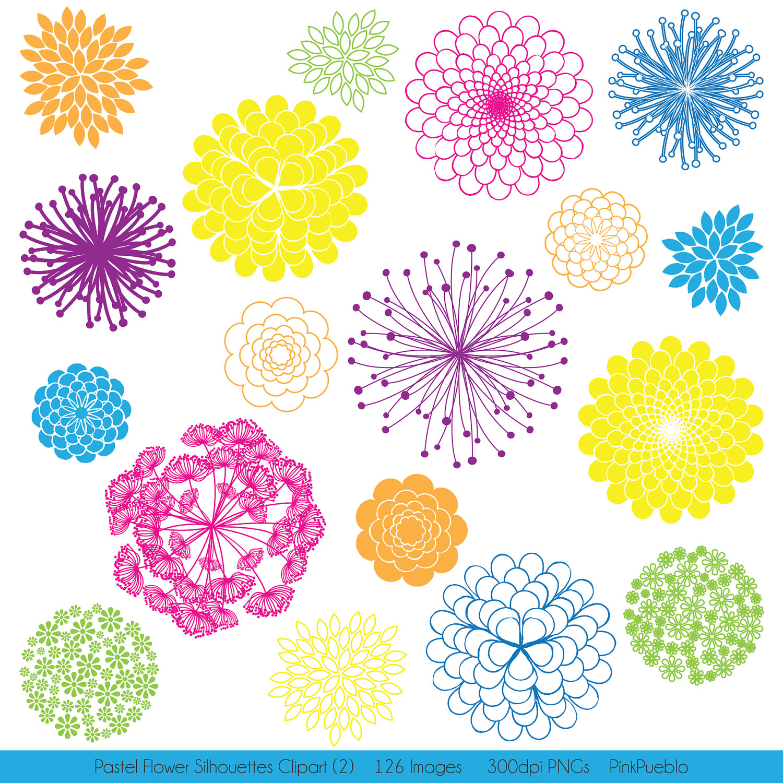 Floral clipart flower burst Art Cliparts Clip  clip