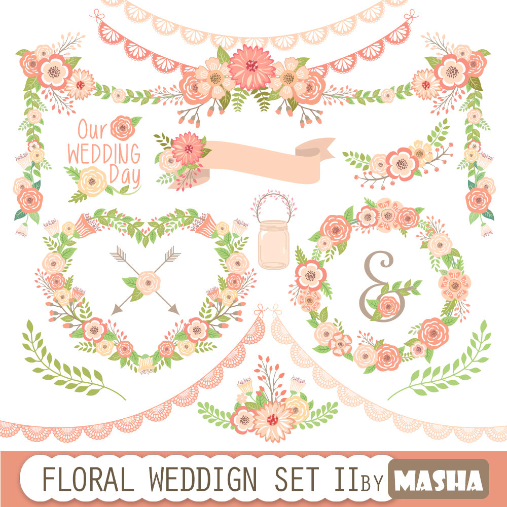 Floral clipart flower garland With