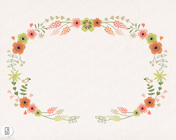Floral clipart flower garland Floral is vector  digital