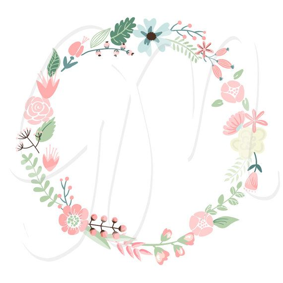 Floral clipart flower garland Floral about Floral invitations Ribbons