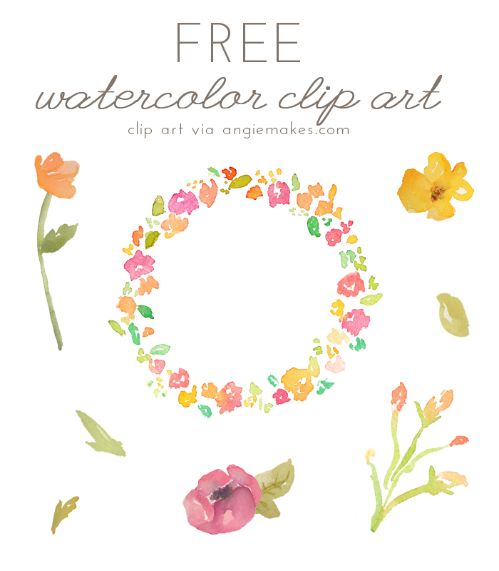 Swag clipart flower Free Watercolor Angie flower watercolor