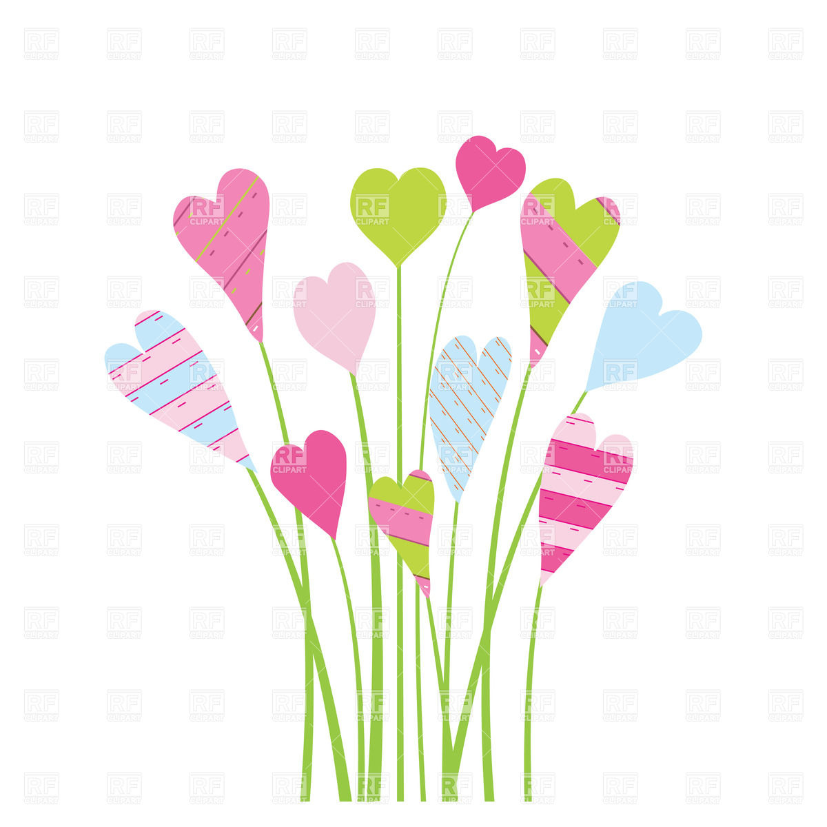 Floral clipart flower heart Floral border Collection heart Heart