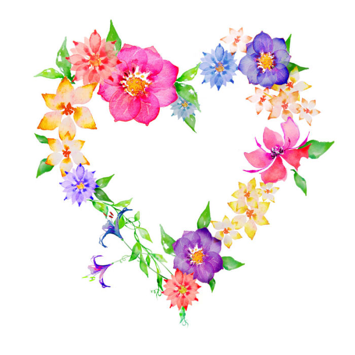 Floral clipart flower heart Victoria png tube Facebook amend