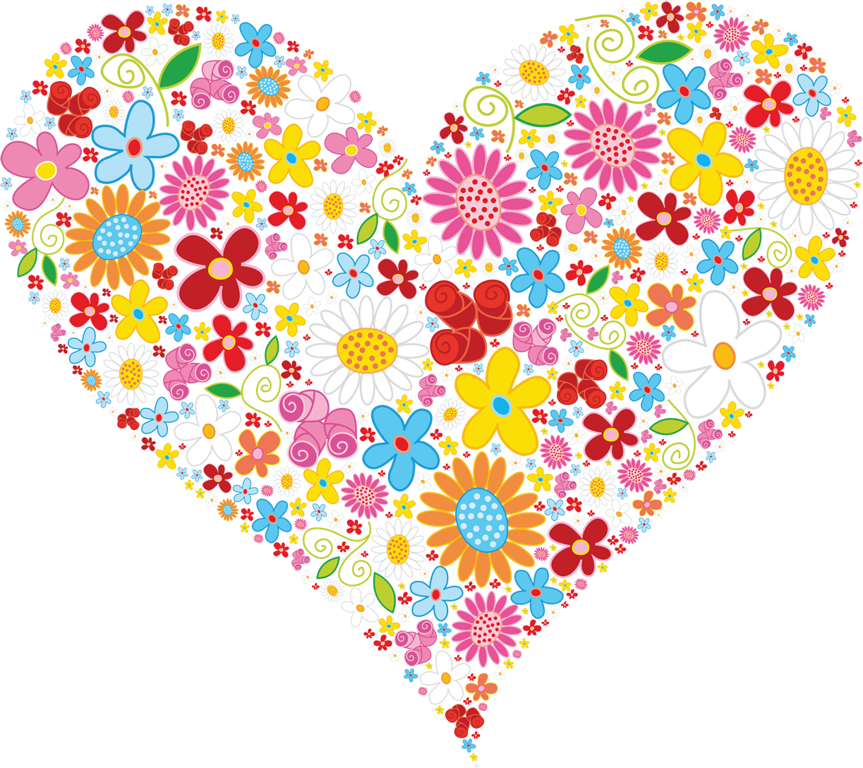 Beautiful clipart flower heart Graphic Vector of  heart