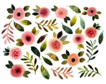 Floral clipart flower petal Clipart clipart spring Floral flowers