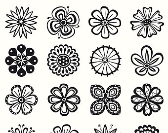 Floral clipart flower petal Petals flowers black Collection black