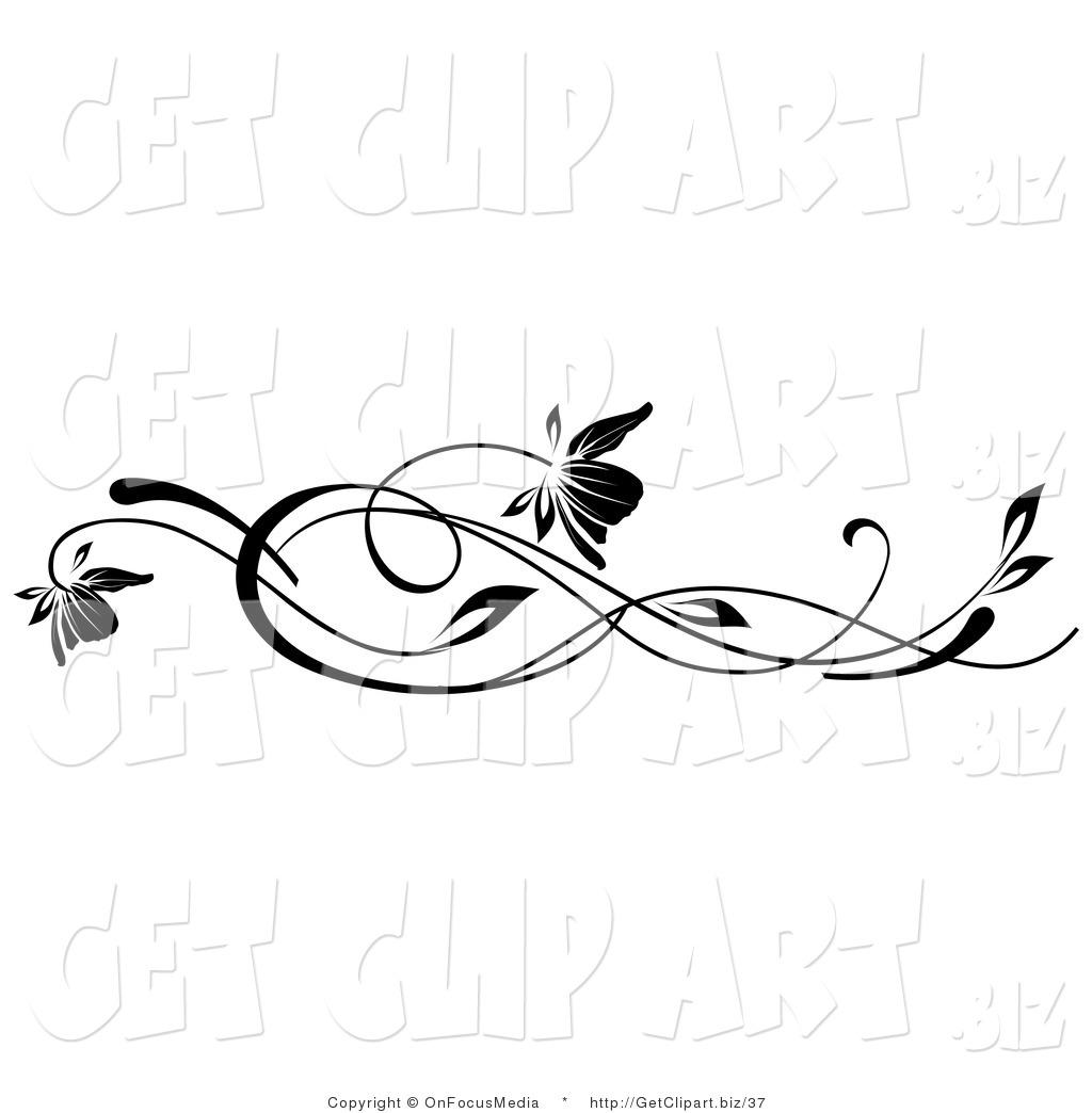 Lines clipart vine Art Clip Art Vine Free