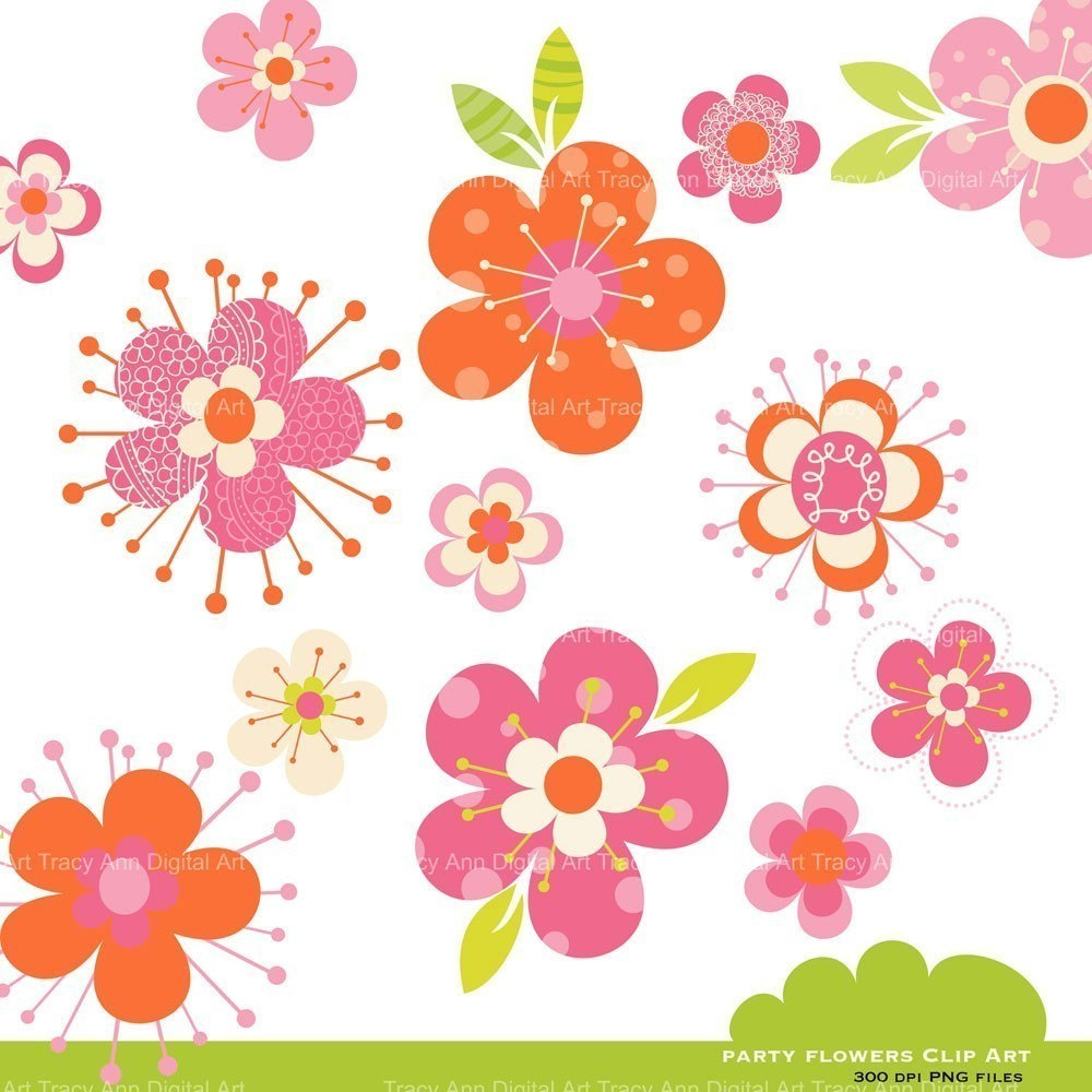 Orange Flower clipart flowery Flowers PLANTS  FLOWERS Flower