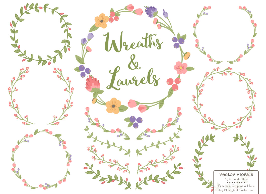 Hipster clipart floral wreath #10
