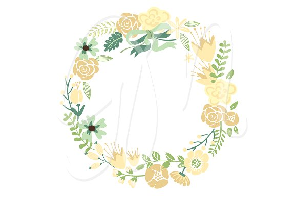 Floral clipart flower wreath Wreaths clip Illustrations on and