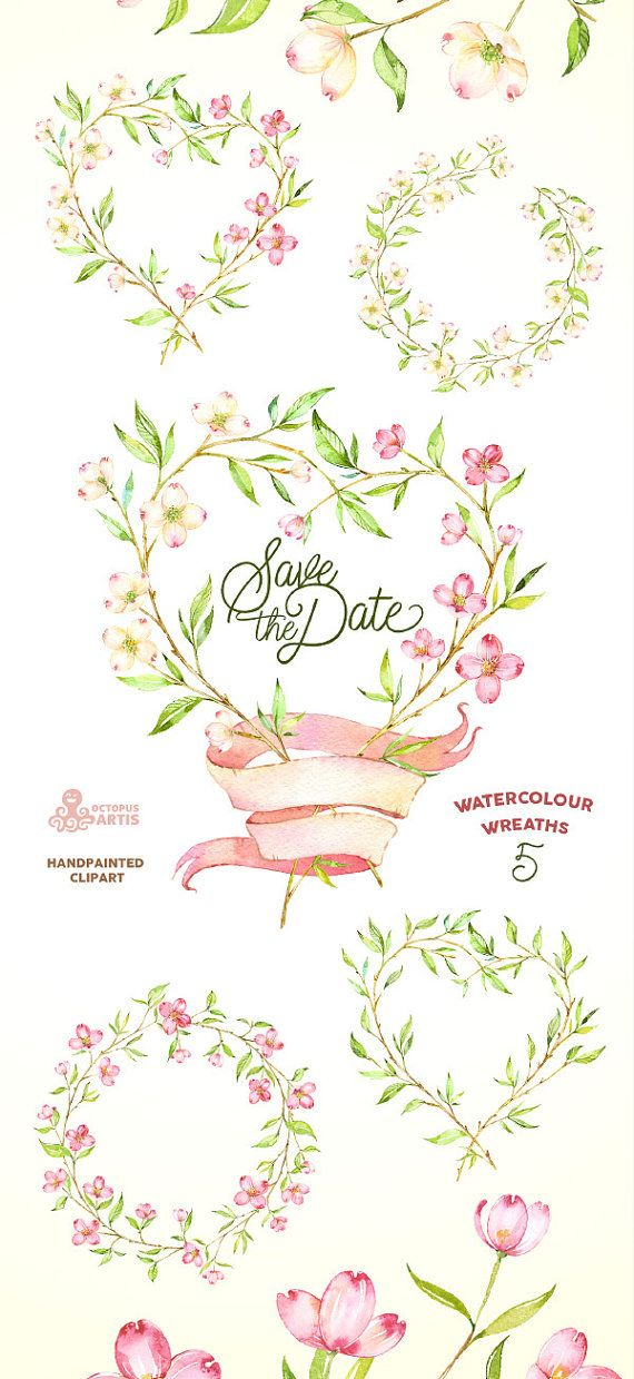 Floral clipart flowery Wedding invitation ideas on dogwood