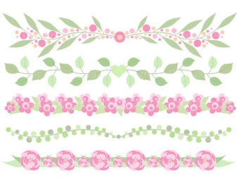 Peach clipart cut Commercial flower flower and