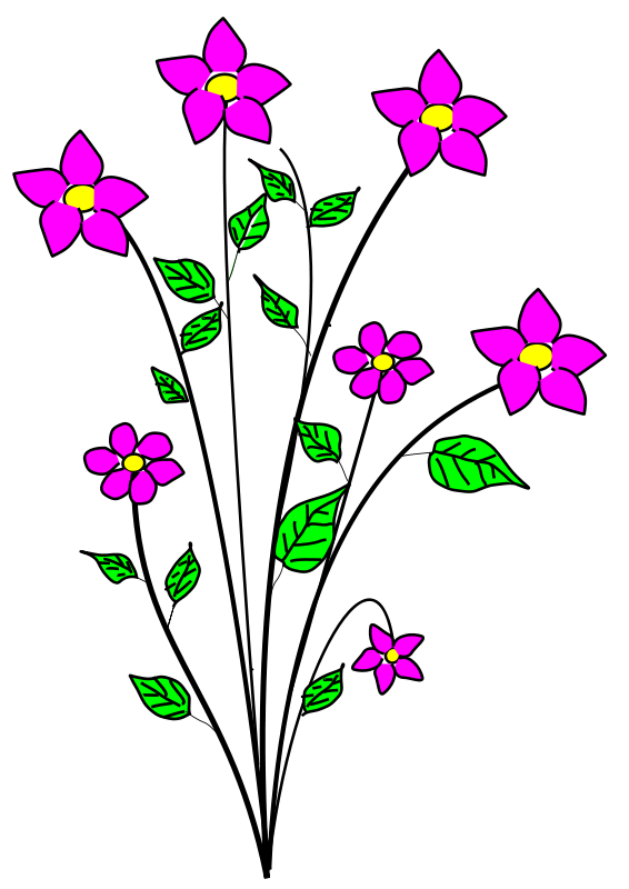 Blue Flower clipart tall flower Floral Clipart Free Clipart Free