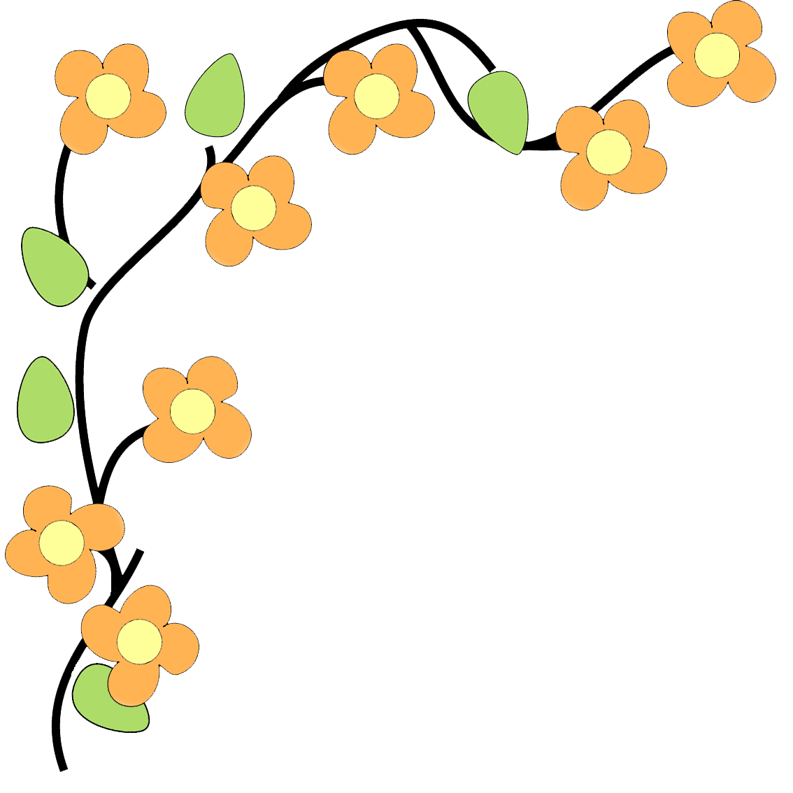 Yellow Flower clipart floral corner Free Free Floral Useful Image