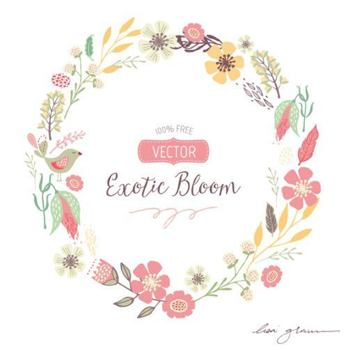 Hipster clipart floral wreath #12