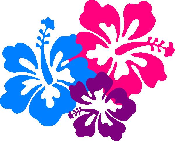 Red Flower clipart hawaiian #6
