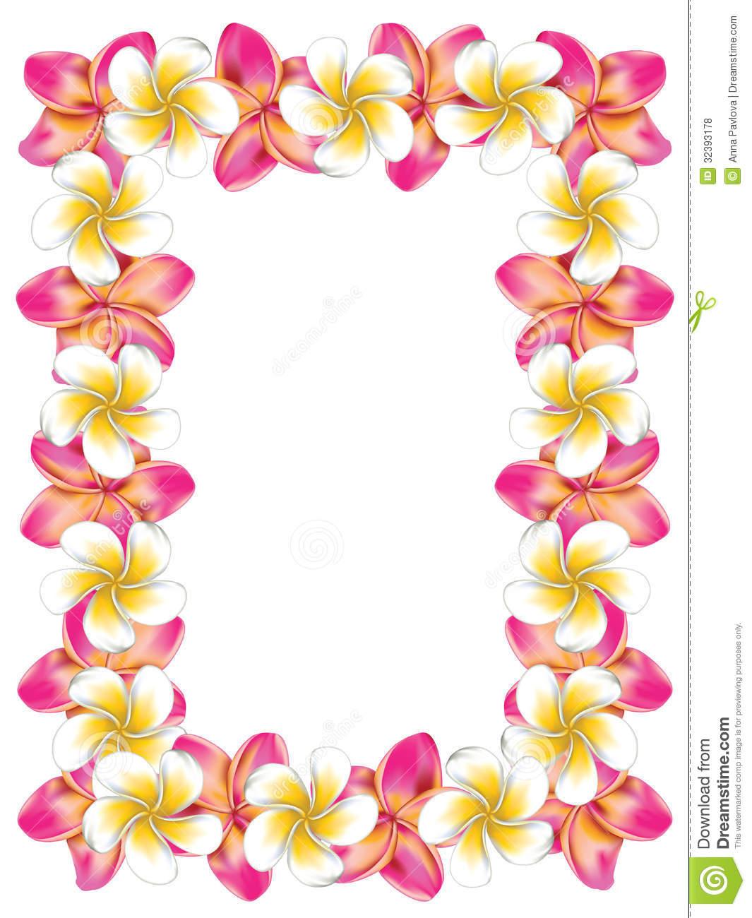 Pink Flower clipart hawaiian flower Hawaiian%20clip%20art%20borders Clipart Art Images Flower