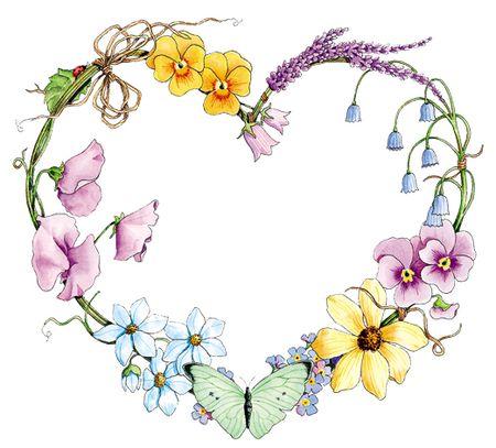 Wreath clipart spring wreath Wreath Wreath Heart Moms Garden