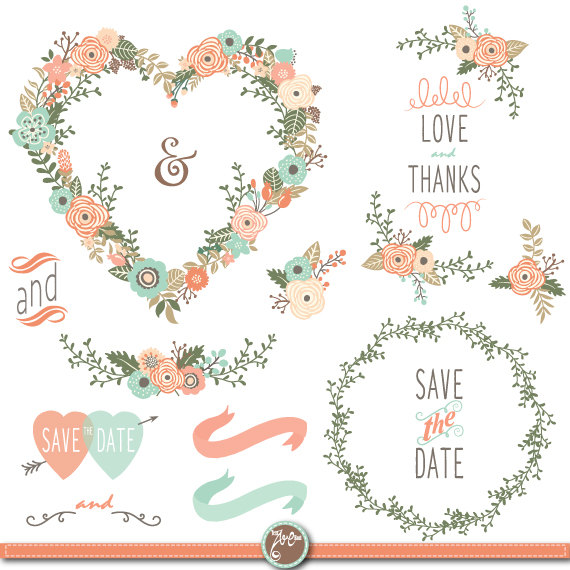 Wedding Flowers HEART Vintage SHAPE