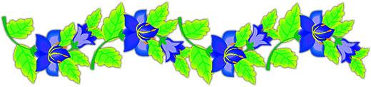 Blue Flower clipart horizontal flower border Rules Flowers Horizontal flowers Clipart