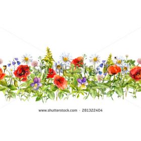 Line Art clipart horizontal border Horizontal for flowers Clip Art