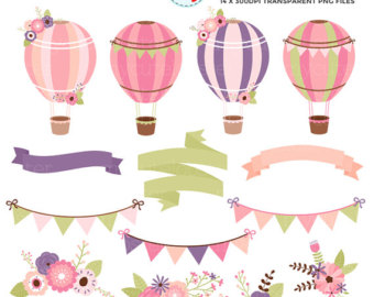 Hot Air Balloon clipart banner #8